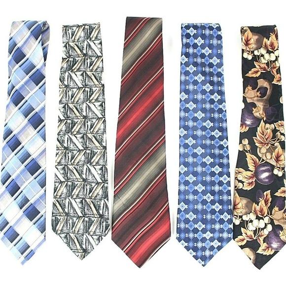 Van Heusen Other - Van Heusen Mens Necktie Lot of 5 Designer Ties 445